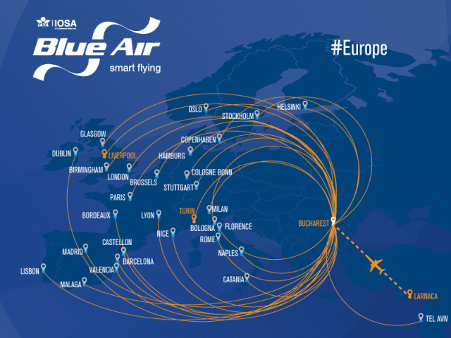 FASTEN UP!  BLUE AIR FLIES YOU TO 100 DESTINATIONS!