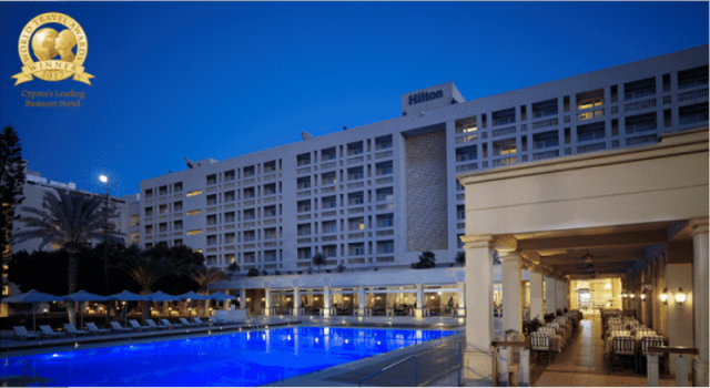 Hilton Cyprus Recognised as Cyprus's Leading Business Hotel  at 2017 World Travel Awards in Europe
