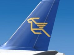 Charlie Airlines signs for Cyprus airways logo use