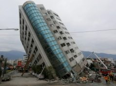 At least five killed, 60 missing after quake rocks Taiwan tourist area