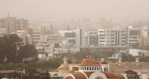 Weather: Higher levels of dust in the atmospere today