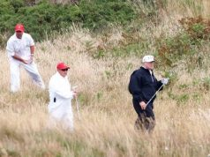 Trump plays golf in Scotland ahead of Putin summit
