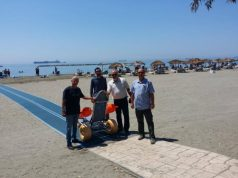 Limassol acquires second beach ramp for the disabled