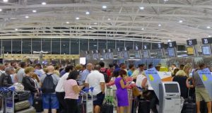 Everything runs smoothly at Larnaca airport on Sunday, as passenger traffic hits record numbers