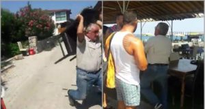 Tempers flare in occupied north over private beaches (video)