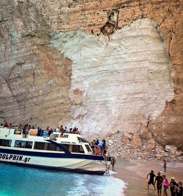 Tourists injured after rockfall at pristine beach in  Zakynthos