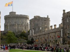 Crowds gather for second big UK royal wedding of the year