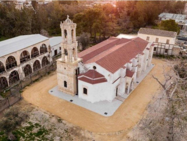 Community cleanup event at Turkish-occupied Agios Panteleimonas Monastery