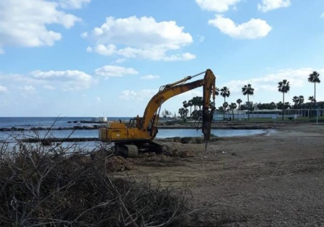 Officials move in to halt work at Pernera beach