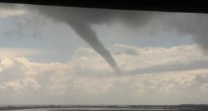 Incredible waterspout appears near Larnaca Airport! (pics)
