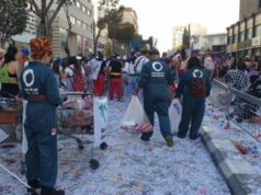 Volunteers collect close to 2 tonnes of recyclables after carnival parade