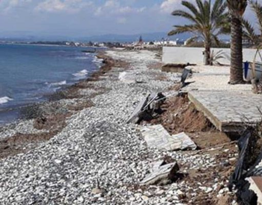Metres of Larnaca beaches have been lost to erosion