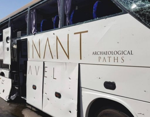 Egypt explosion: Tourist bus hit by blast outside museum near Giza Pyramids (pics)