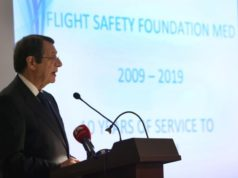 Nicosia FIR of strategic importance, providing services for 400,000 flights, President says