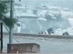 Extreme weather batters South Italy! Hail the size of Oranges fall down! (video)