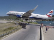 British Airways plane makes a terrifying landing at Skiathos Airport (VIDEO)