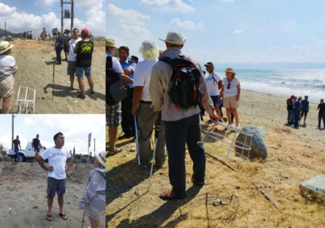 Attempt to obstruct turtle protection programme on Polis beach (video)