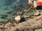 Firefighters rescue children at Paralimni beach