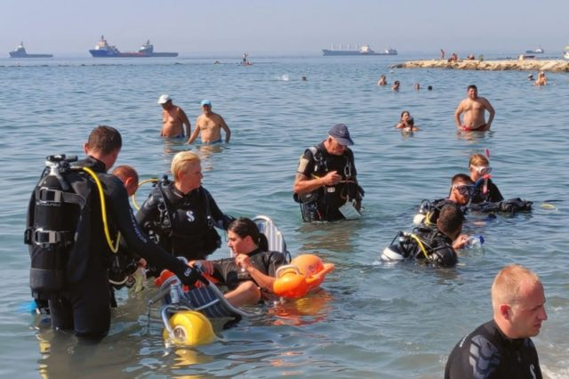 Free scuba diving for the disabled