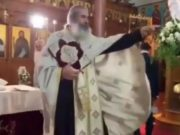 Cypriot priest yells at wedding guest