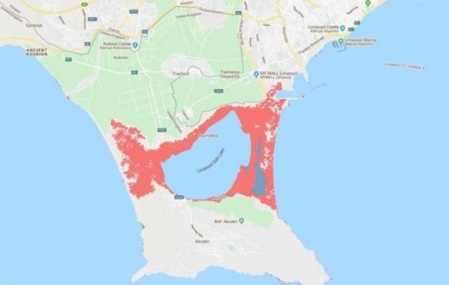 Akrotiri and Larnaca Airport in risk of sinking