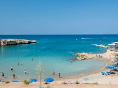 Protaras beaches packed yday-people in line with measures