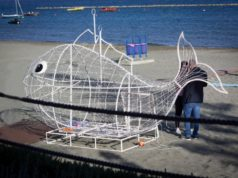 Installation to promote recycling on the beach