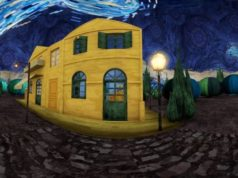 "Virtual travel into Van Gogh's ""Starry Night"" and ""Arles room"""