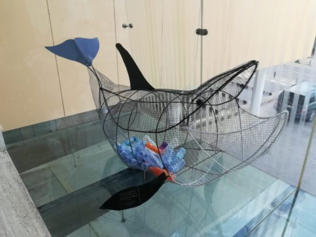 Whale sculpture 'Evdokia' installed in Ayia Napa to encourage plastic recycling