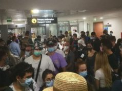 Airport video shows no social distancing