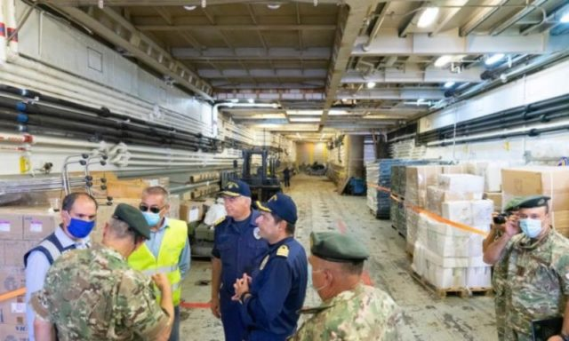 Relief donations reach Beirut on vessel, chartered flight