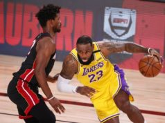 Lakers cruise in Game 1 as Heat lose two to injuries