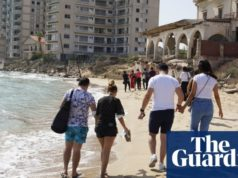 'Terrible day': anger as pictures show Varosha beach in Cyprus opening after 46 years