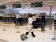 Ground handlers at Larnaca Airport in work stoppage
