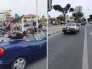 Limassolians take to the streets in cars to celebrate Carnival (video)