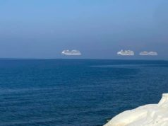 Photo captures cruise ships 'hovering' in air off Limassol