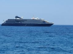 Cruise ship makes brief stopover off Paphos